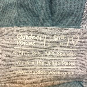 Outdoor Voices Pants - OUTDOOR VOICES - warm up leggings